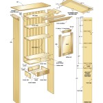 Bathroom wall cabinet woodworking plans 02