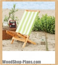 Folding beach chair woodworking plans