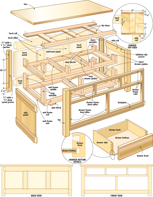 Mission coffee table woodworking plans woodshop plans for Kitchen island plans pdf