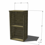 Modular Bar Hutch Woodworking Plans 2