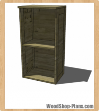 Modular Bar Hutch Woodworking Plans