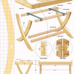 Portable table tray woodworking plans 04
