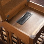 Side table with laptop compartment woodworking plans 03