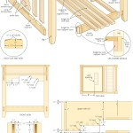 Side table with laptop compartment woodworking plans 06