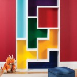 Tetromino bookshelves woodworking plans 03