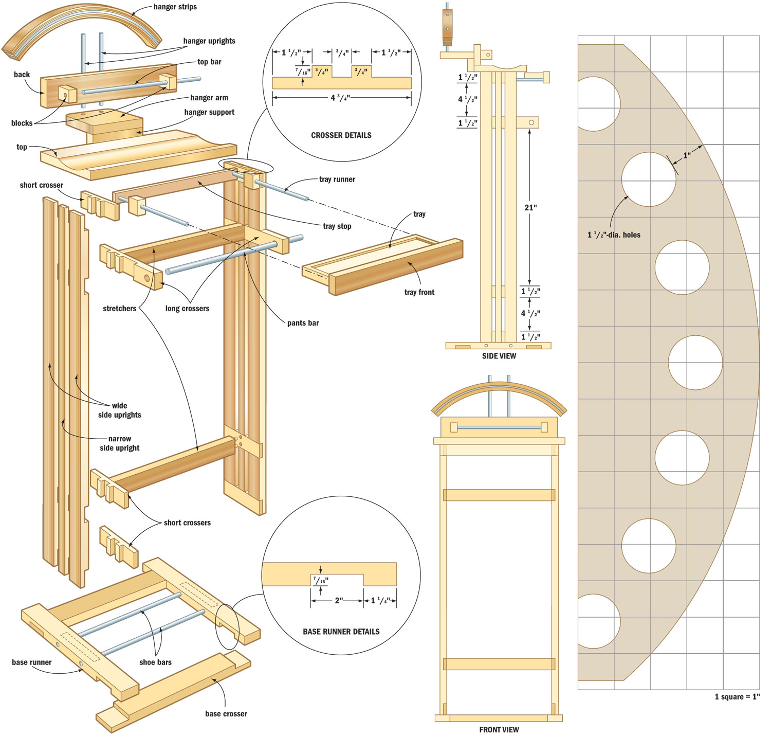 Valet stand woodworking plans - WoodShop Plans