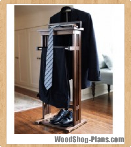 woodworking plans valet stand