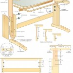 adjustable work table woodworking plans 04