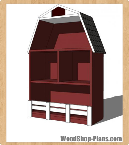 barn bookshelf woodworking plans