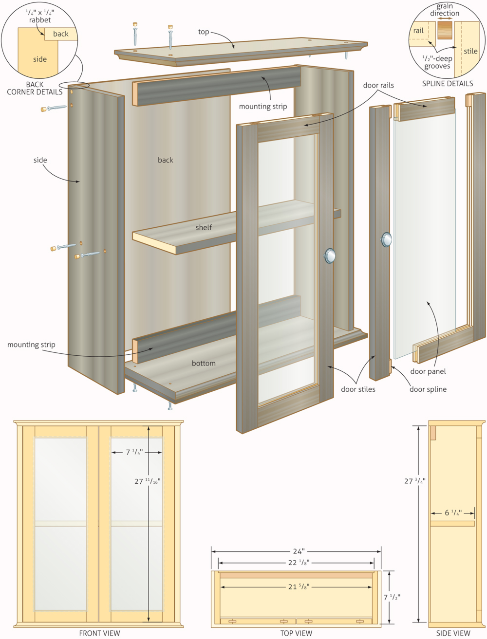 Freewoodplans for Cupboard cabinet designs