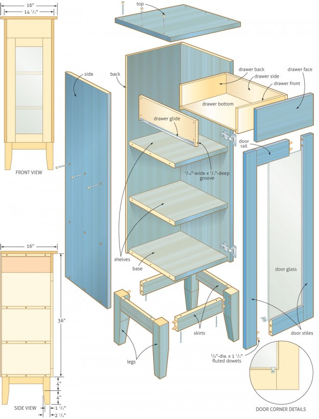 bathroom cabinet woodworking plans woodshop plans