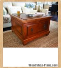 coffee table storage bench woodworking plans