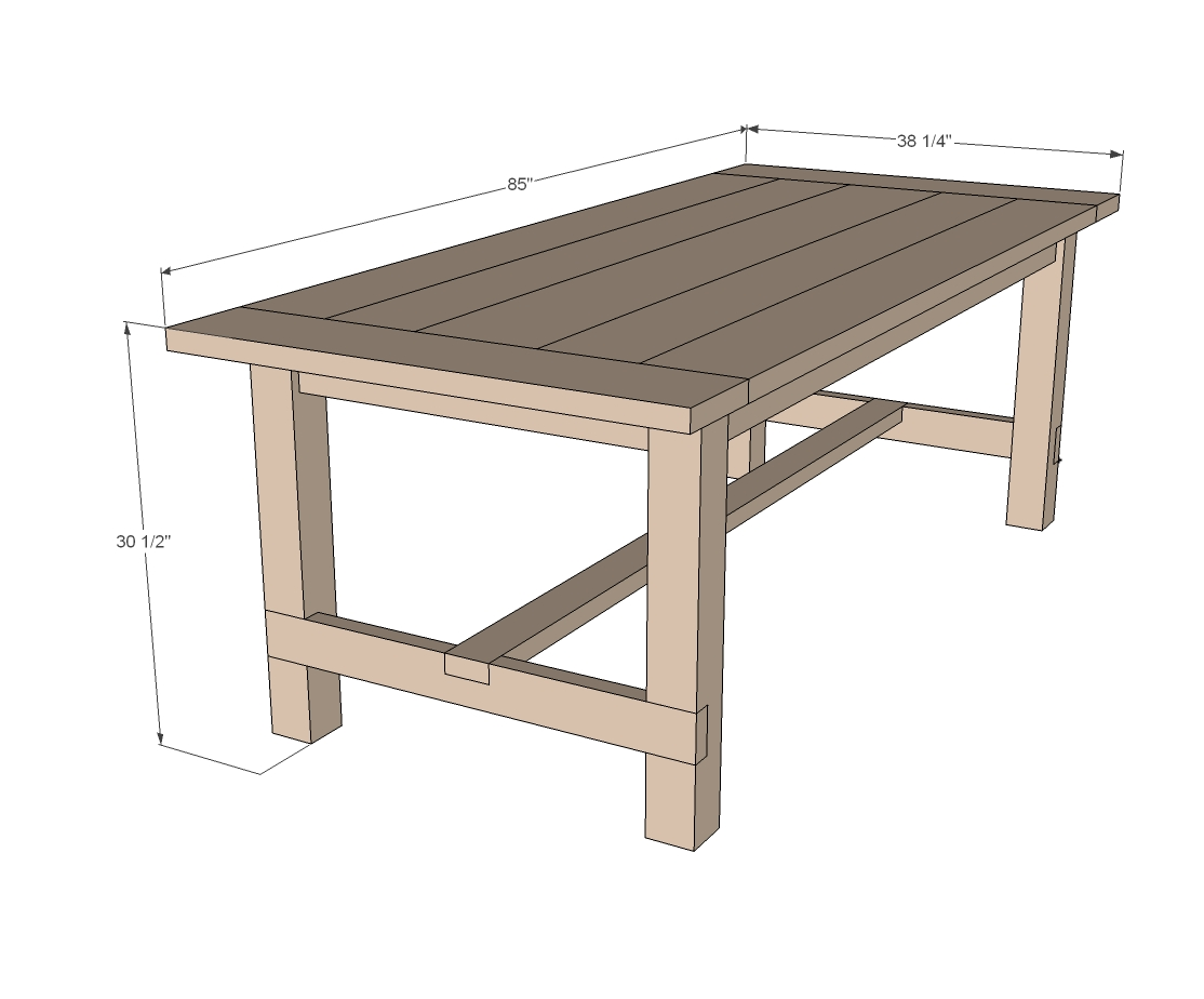 Farmhouse table woodworking plans woodshop plans for Breakfast table plans