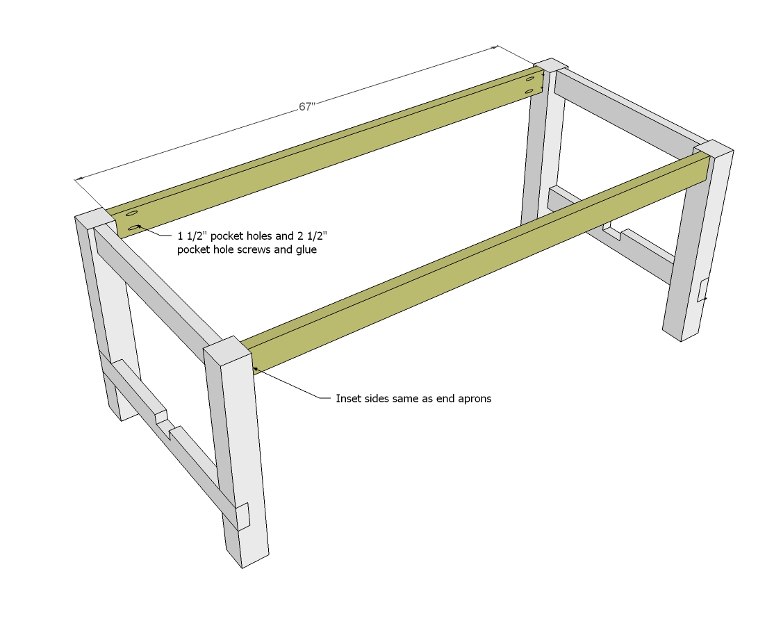 Farmhouse Table Woodworking Plans WoodShop