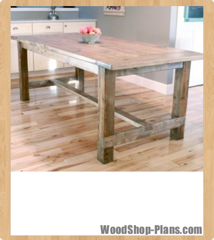 farmhouse table woodworking plans