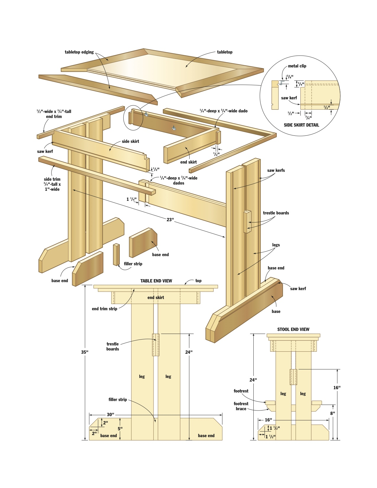 Kitchen nook woodworking plans woodshop plans for Kitchen table designs plans