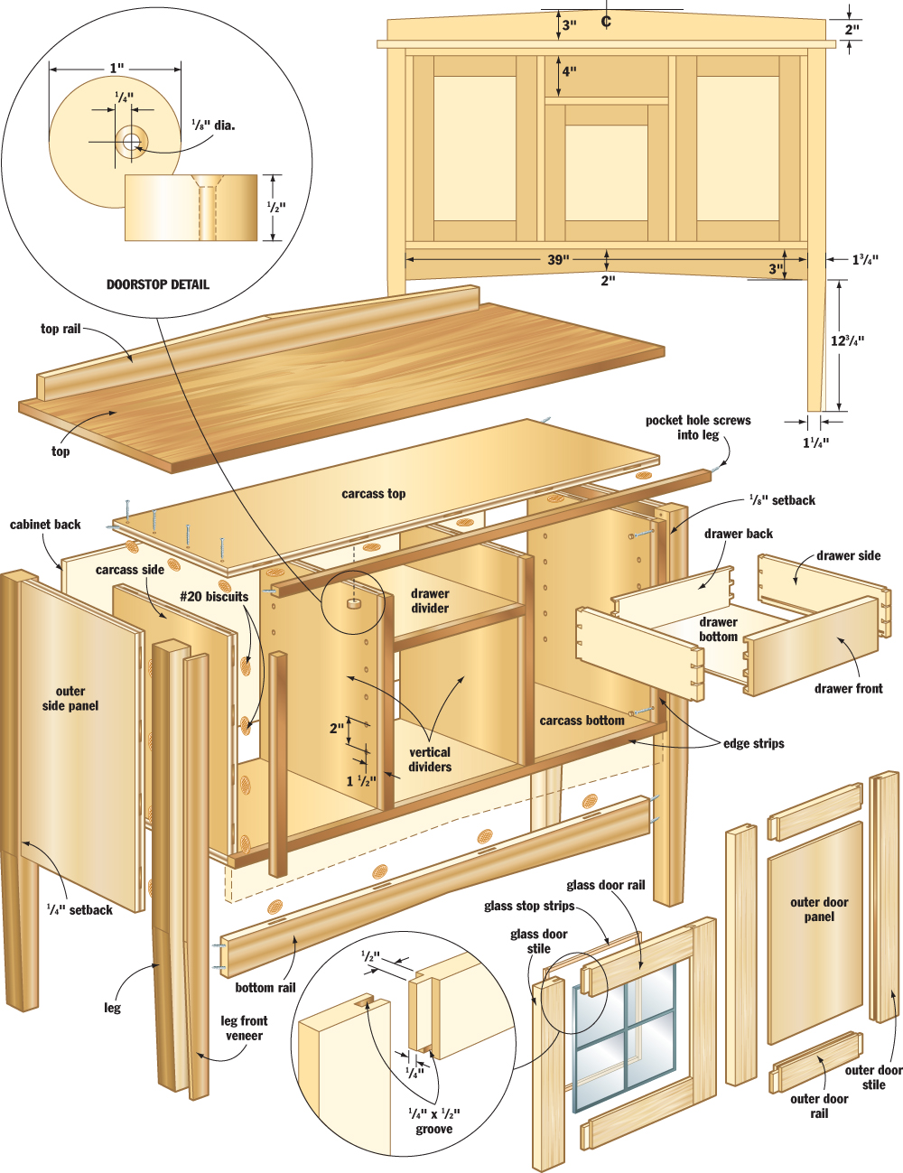 Mission sideboard woodworking plans woodshop plans for How to build a project plan