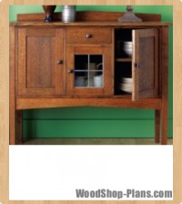 Mission Sideboard Woodworking Plans