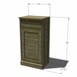 modular bar cabinet woodworking plans 2