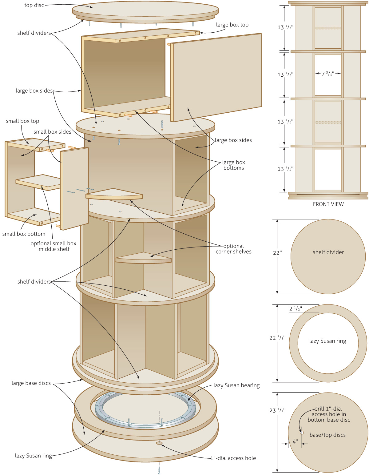 Rotating Bookcase Plans Woodworking