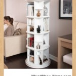 rotating bookcase woodworking plans