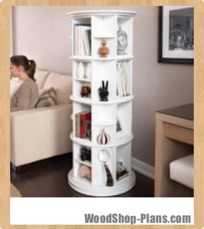 woodworking plans rotating bookshelf | Online Woodworking Plans