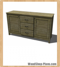 Benchwright Buffet Woodworking Plans