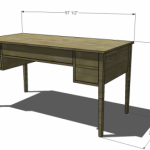 Bouclier Desk Woodworking Plans 2