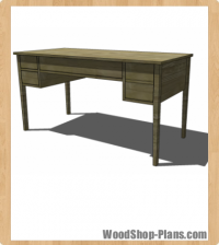 Bouclier Desk Woodworking Plans