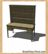 Bouclier Hutch Woodworking Plans