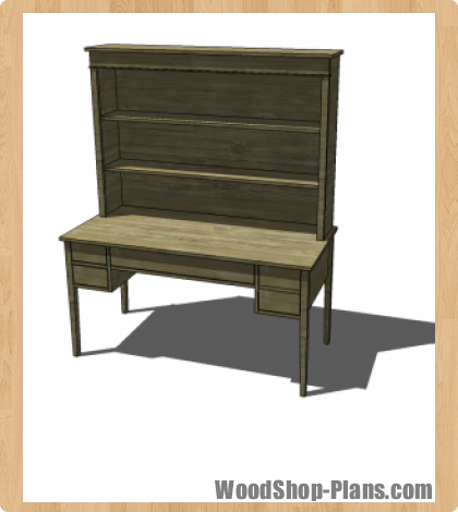 Woodworking plans desk hutch for Wood hutch plans