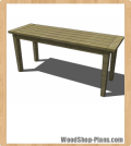 Boulangerie Bar Table woodworking plans