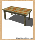 Boulangerie Table woodworking plans