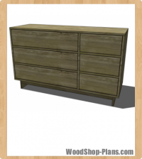 Buffet with Drawers woodworking plans