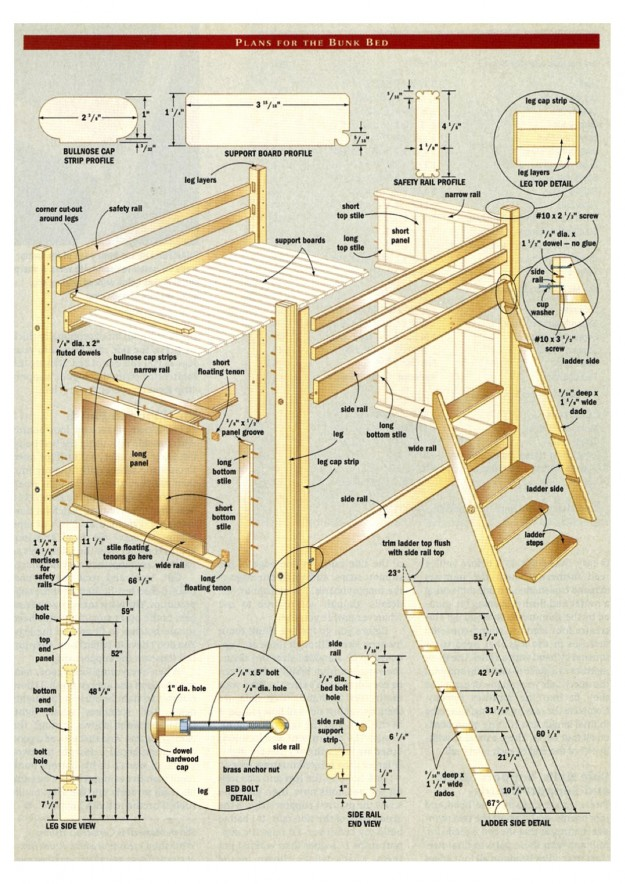 Woodwork Plans Free Bed Loft Bunk Bed Plans Free