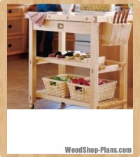 Butcher block island woodworking plans