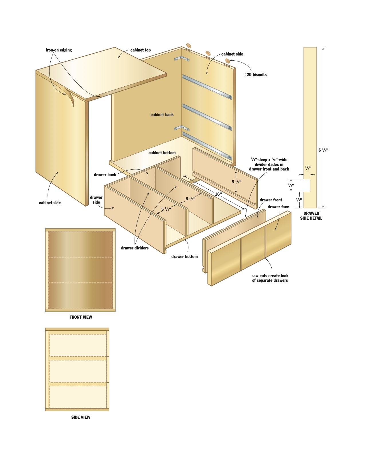 CD Storage Cabinet Woodworking Plans 2. Drawer Boxes