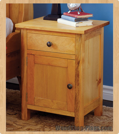 Woodwork woodworking plans night stand pdf plans for Nightstand plans