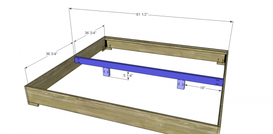 woodworking plans king bed frame