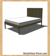 King Stria Bed woodworking plans