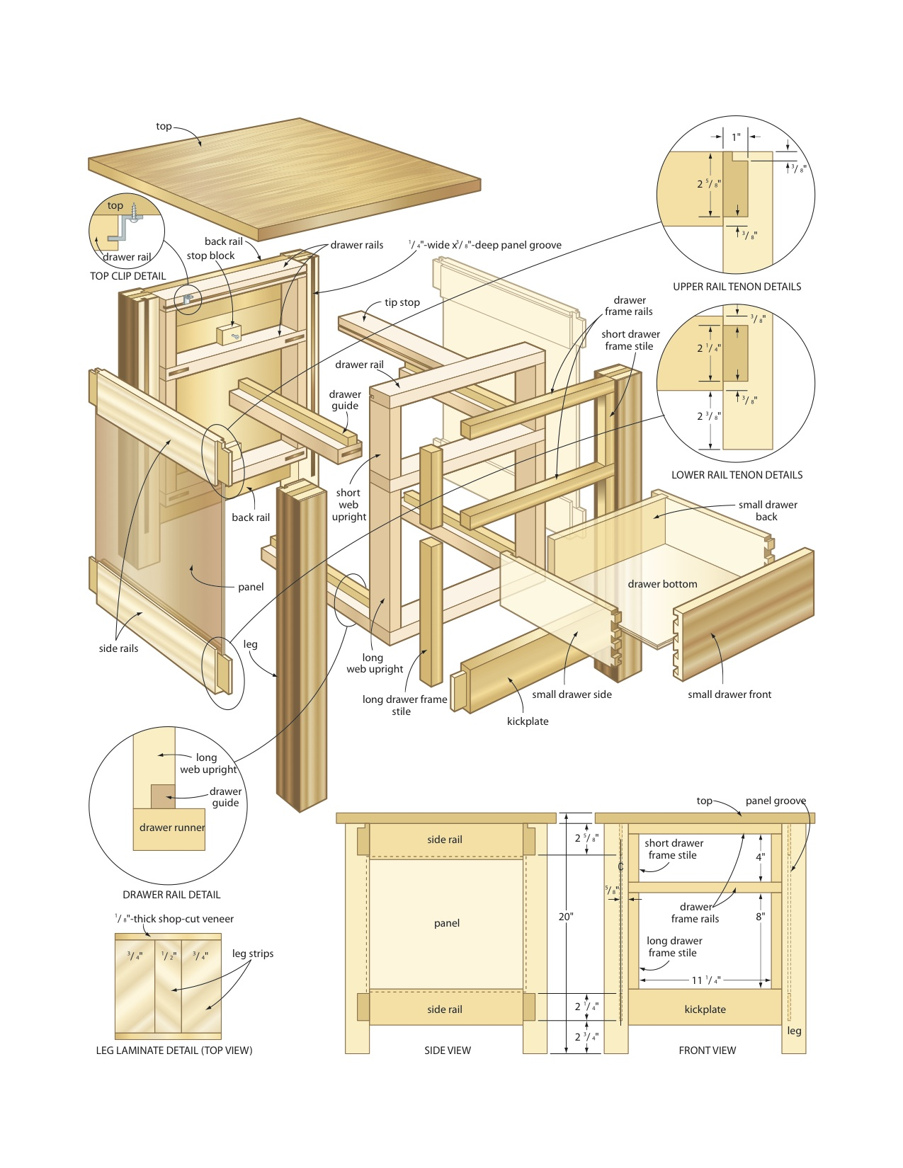 Woodworking plans for round end table woodideas for Table design plans