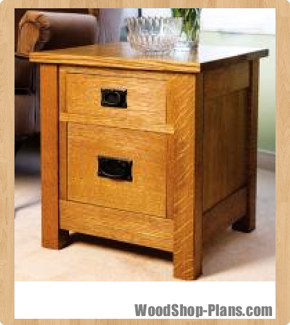 Mission end table woodworking plans - WoodShop Plans