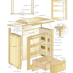 Nightstand with storage woodworking plans 2