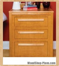 Nightstand with storage woodworking plans