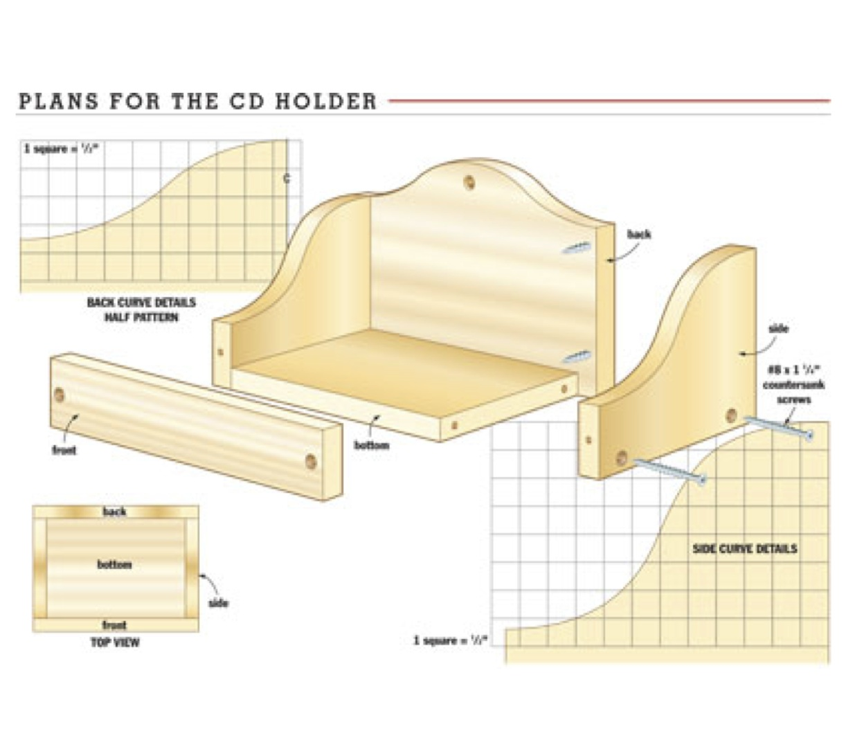 woodworking plans cd storage | woodproject
