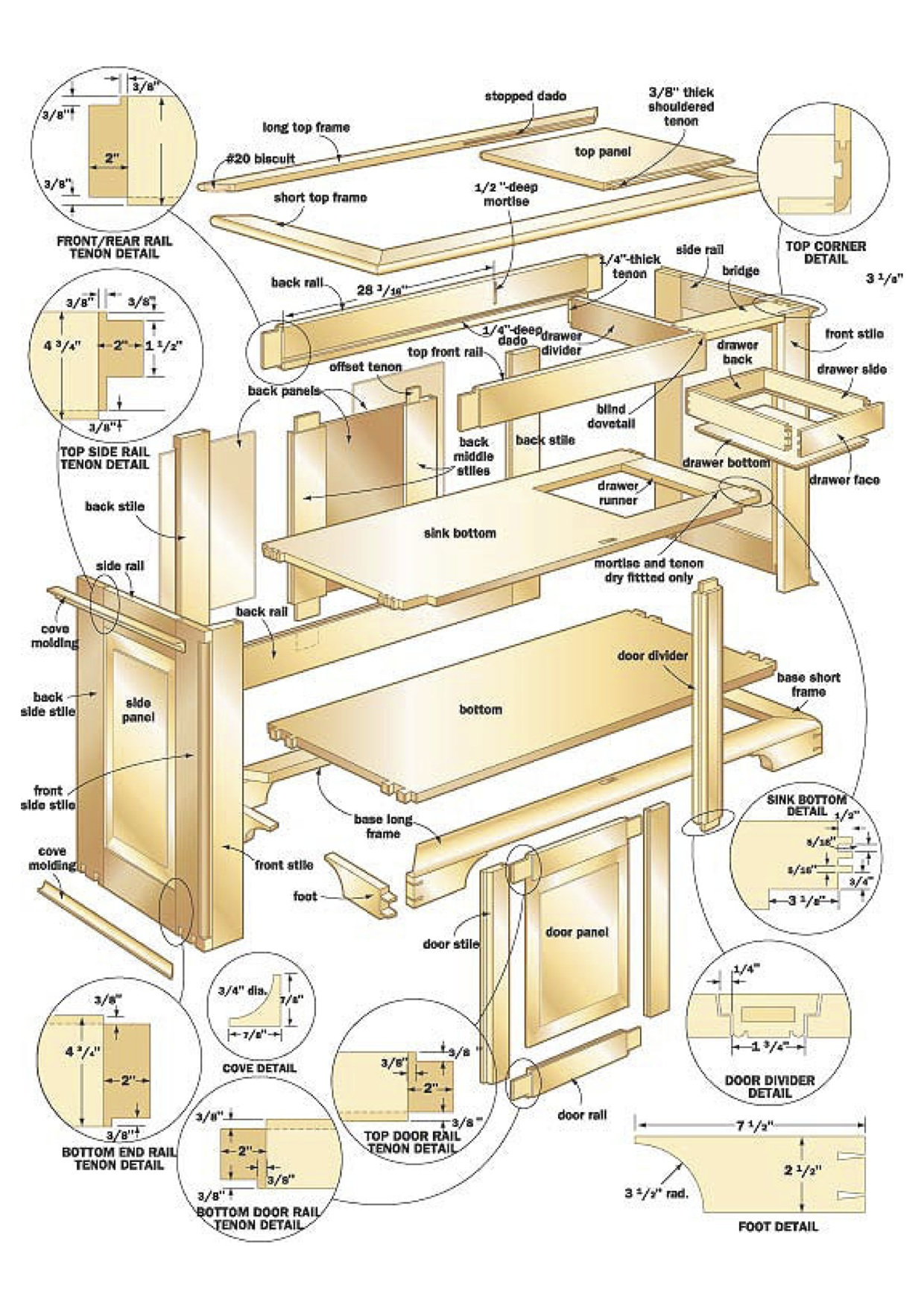 Cherry Dry Sink Woodworking Plans WoodShop