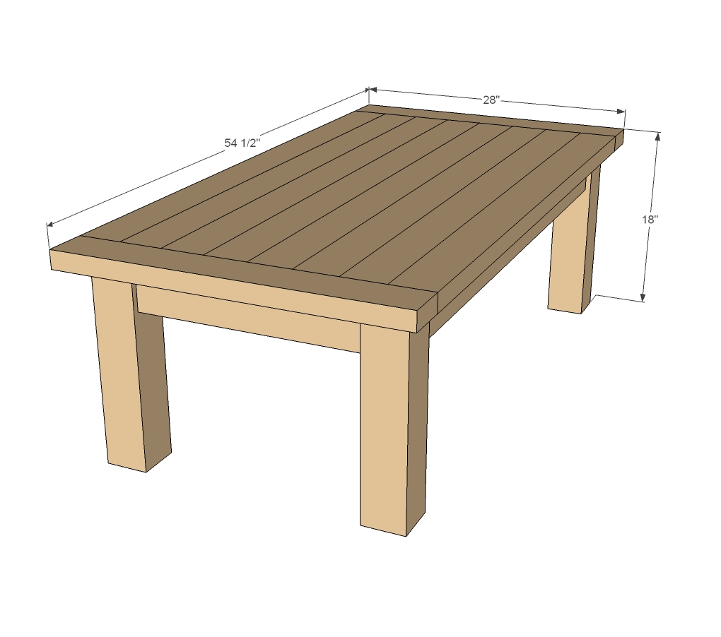 coffee table woodshop plans