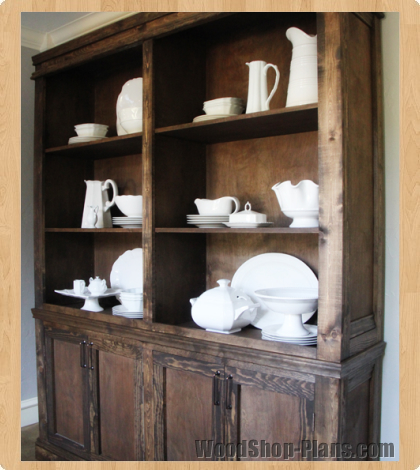 country style hutch woodworking plans