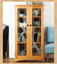 elegant media cabinet woodworking plans