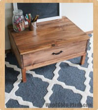 kid cubby table woodworking plans